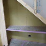 階段下を利用した書斎コーナー