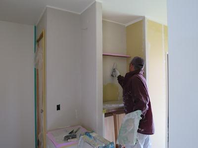 漆喰下地塗り