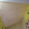 勾配天井の板貼り