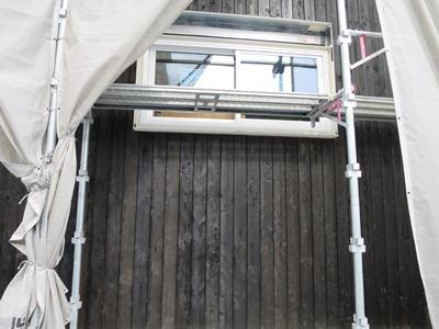 木の板の外壁