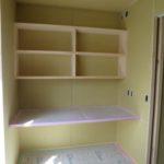 書斎コーナーと木製スリット