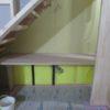 カウンター+本棚の造作