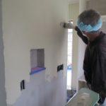 漆喰塗りと造作建具
