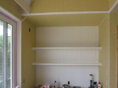 板壁の塗装