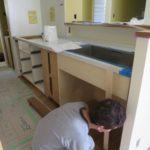 造作キッチンと造作洗面化粧台