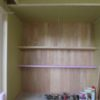 板壁と天井羽目板の塗装