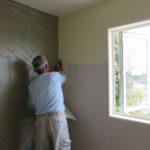 漆喰塗りと木製造作建具
