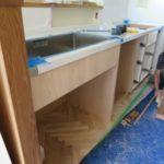 木製造作キッチンと洗面化粧台