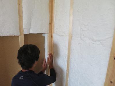 グラスウール断熱材の施工