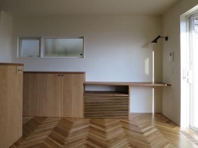木製カウンター収納