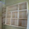 造作本棚とグラスファイバーメッシュの施工