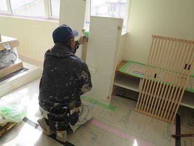 造作建具の塗装