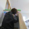 漆喰塗りと壁紙塗装