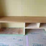 木の造作テレビ台と造作カウンター