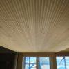 天井板張りと壁板張りとガルバリウム雨樋