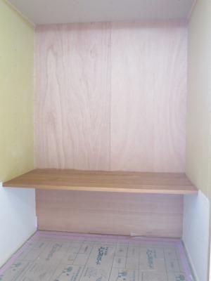 オーク材の造作カウンター