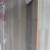 外壁の板張りとオークフローリング貼り