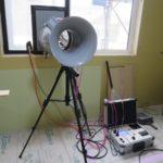 気密測定と間接照明
