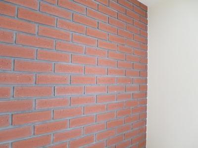 壁のレンガ張り
