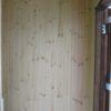 壁の板張りと造作収納