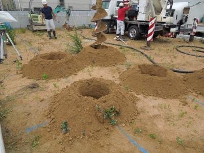 地盤改良杭施工