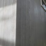 板張り壁の塗装