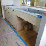 木製造作キッチンとアイアン手摺の製作