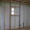 壁のグラスウール断熱施工