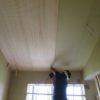 勾配天井の板張りと造作収納
