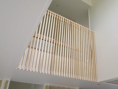 木製スリット手摺
