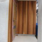 外壁板張りと気密測定