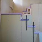 造作収納と吹抜け階段造作