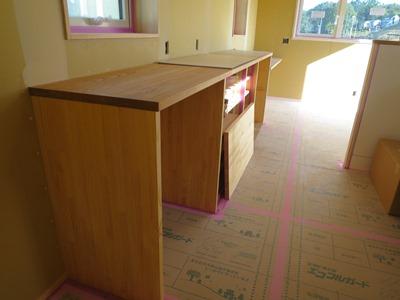 キッチン背面造作収納