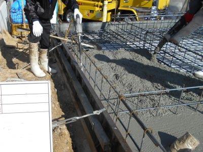 土間コンクリート施工