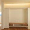 造作テレビ台と間接照明
