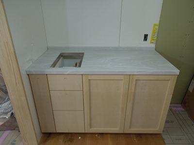 2列型キッチンコンロ台