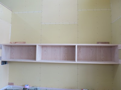 デスクコーナー棚造作
