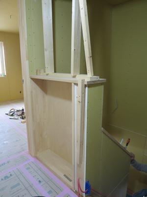 腰壁本棚造作