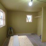 造作収納と気密測定