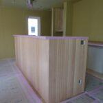 造作キッチンと造作洗面台