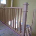 造作階段と木製スリット手摺