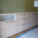 造作家具と造作洗面化粧台