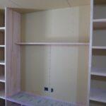 造作テレビ台と気密測定