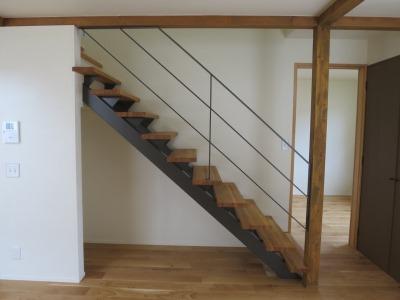 階段アイアン手摺