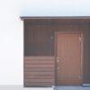 扉の塗装と無垢ウォルナット板張り
