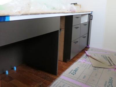 造作キッチン扉塗装